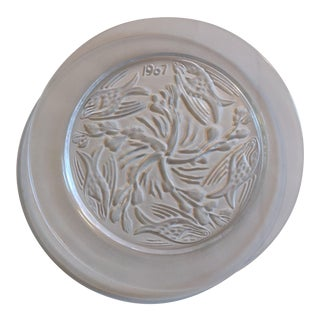 Lalique France Crystal Annual Collector Plate 1967 Fish Ballet For Sale