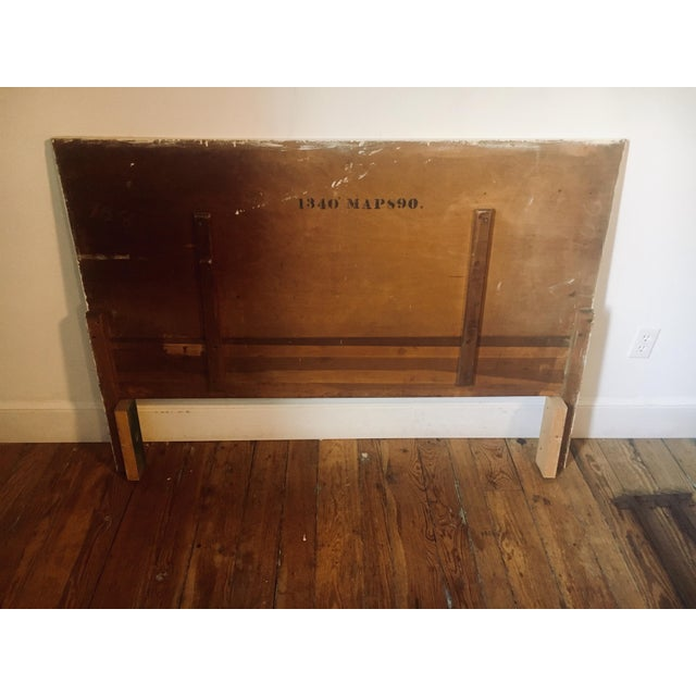 1930s Mid-Century Modern Streamline Moderne Tiger Maple & Burl Bed + Nightstand - 3 Pieces For Sale - Image 11 of 13