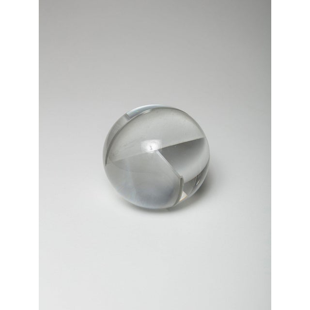 Contemporary Glass Spherical Sculpture by Floris Meydam for Leerdam For Sale - Image 3 of 8