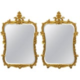 Image of Friedman Brothers Chippendale Console Mirrors - A Pair For Sale