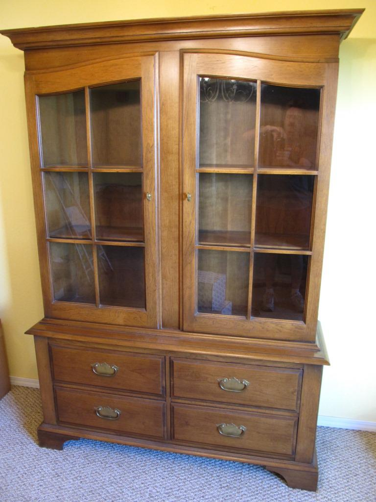 Classic Drexel Heritage China Cabinet From The American Treasury Series,  Circa 1968; Signed.