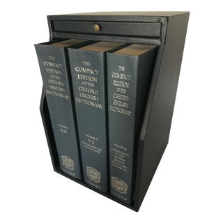 1980s Vintage Compact Edition of the Oxford English Dictionary For Sale