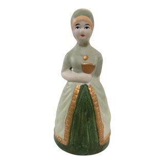Lady Form Bisque Bell For Sale