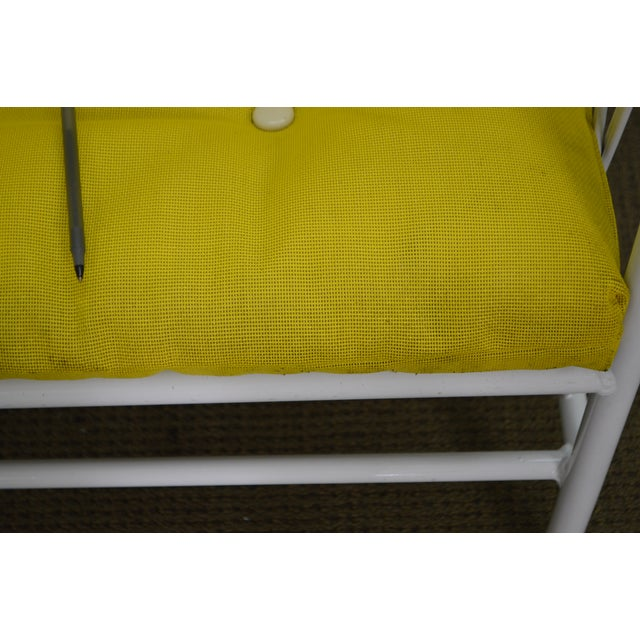 Brown Jordan Style Mid-Century White Patio Lounge Chairs - A Pair - Image 6 of 10