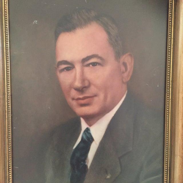 Vintage Framed Portrait Painting of Business Man - Image 4 of 11
