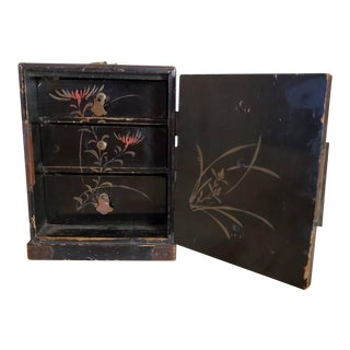 Chinese Hand Painted Box With Drawers For Sale