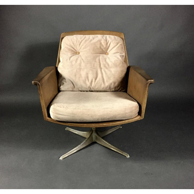 """Tan """"Sedia"""" Leather Armchair by Horst Brüning for Cor Germany 1966 For Sale - Image 8 of 10"""