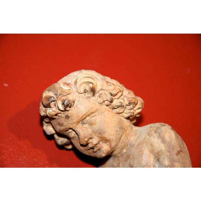 Italian Carved Cherub For Sale - Image 4 of 7