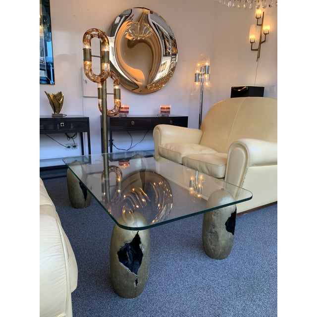 1970s Bronze Sculpture Coffee Table. France, 1970s For Sale - Image 5 of 7