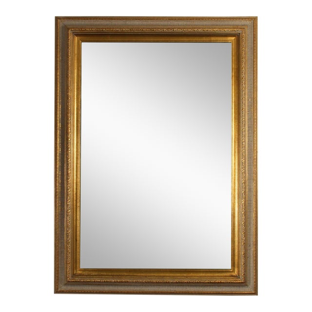 Gilt Gold Green Mirror For Sale