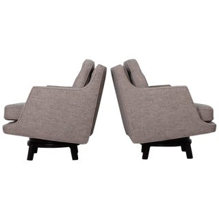 Pair of Swivel Chairs by Edward Wormley for Dunbar For Sale