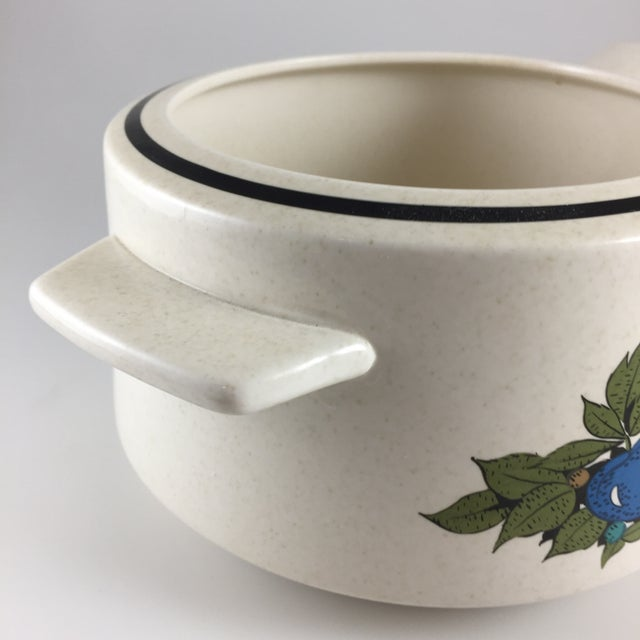 Fall Bounty Stoneware Open Fondue Pot For Sale - Image 5 of 10