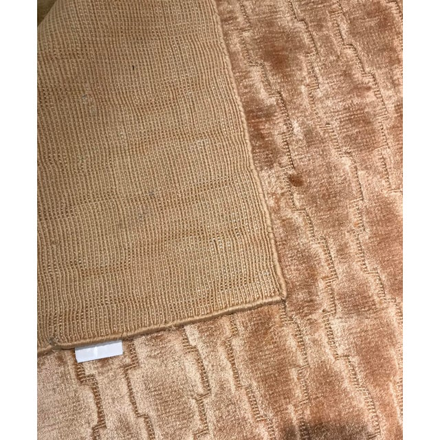 Modern Pasargad NY Modern Hand Knotted Silk Rug - 4′3″ × 5′11″ For Sale - Image 3 of 5