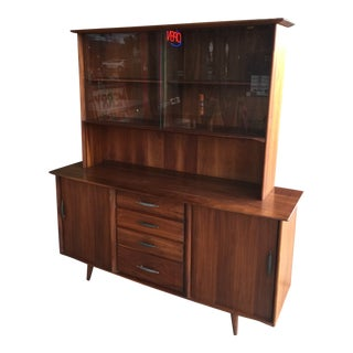 Mid Century Modern Ace-Hi Prelude Buffet With Hutch Top For Sale