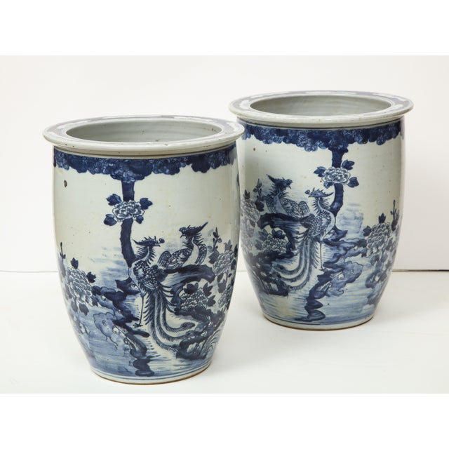 Chinese Blue and White Planters - A Pair For Sale In New York - Image 6 of 13