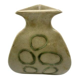 1996 Gary Dipasquale Organic Modern Stoneware Triangle Vase