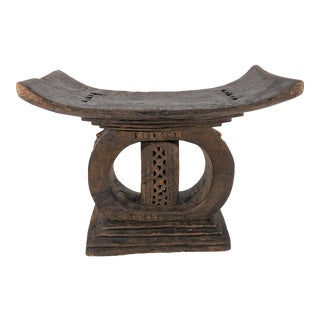 1940s Vintage African Ashanti Stool For Sale