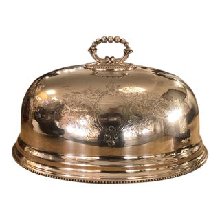 Huge Antique 19th C Regency Sheffield Silver Cloche Food Dome For Sale