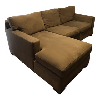 Crate & Barrel Coffee Brown Sofa
