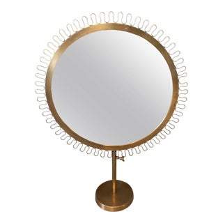Sunburst Standing Table Mirror For Sale