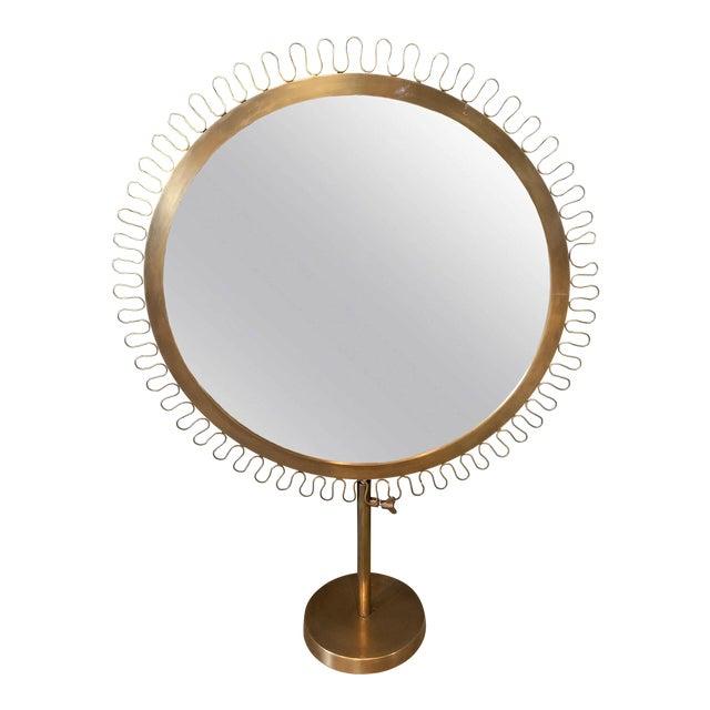 Sunburst Standing Table Mirror For Sale