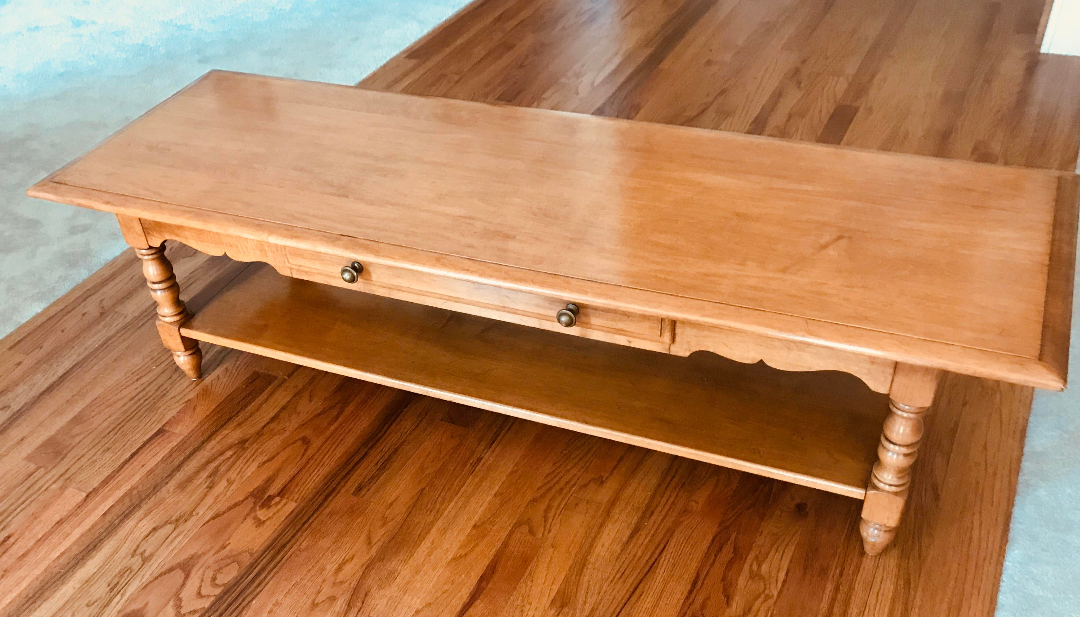 1960s 1960s Mid Century Modern Conant Ball Maple Coffee Table For Sale    Image 5