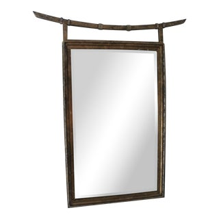 Chinoisere Asian Mirror For Sale