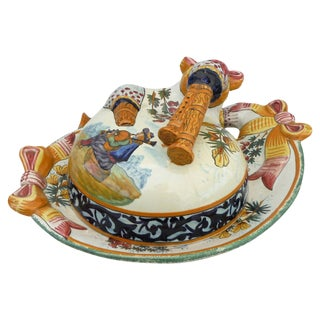 Quimper Covered Butter Dish For Sale