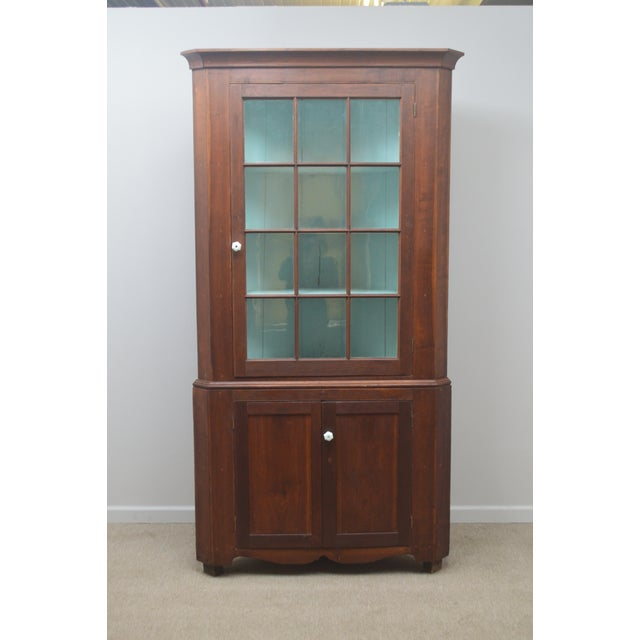 19th Century Antique Pine China Cabinet For Sale - Image 12 of 12