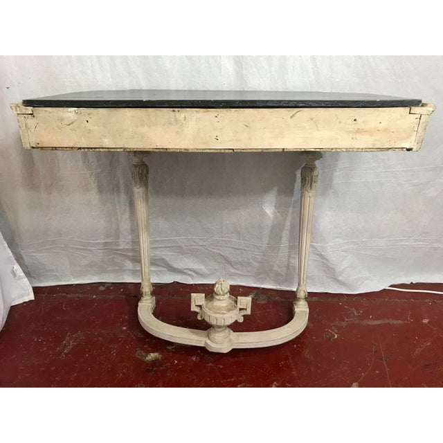 Louis XVI Style Painted Consoles a Pair For Sale - Image 10 of 13