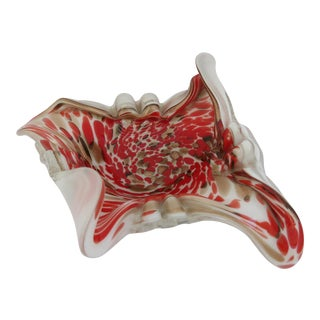 Murano Red Glass Bowl For Sale