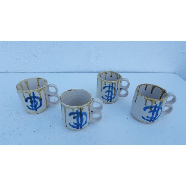 1975 Blackwell Hand Thrown Coffee Mugs - Set of 4 For Sale - Image 4 of 7