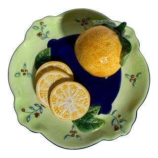 Bella Casa Ganz Trompe-l'Oeil Hand Painted Fruit Plate