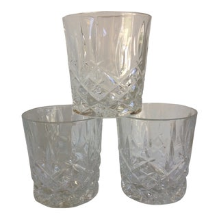 Waterford Crystal Bourbon Glasses - Set of 3 For Sale