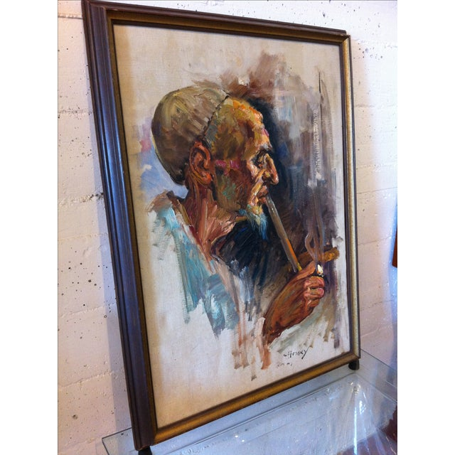 Mid-Century Modern Oil Painting by Cyrus Afsary For Sale - Image 3 of 6