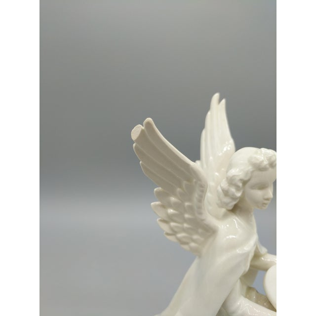 1960s Traditional German W. Geobel Ivory Angel Candleholders - a Set For Sale - Image 9 of 10