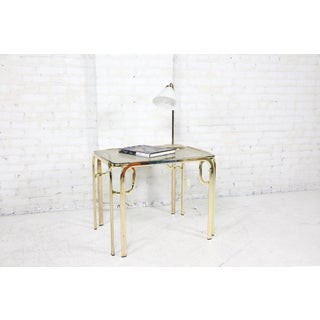 Vintage Italian Small Glass and Brass Coffee/Side Table Preview