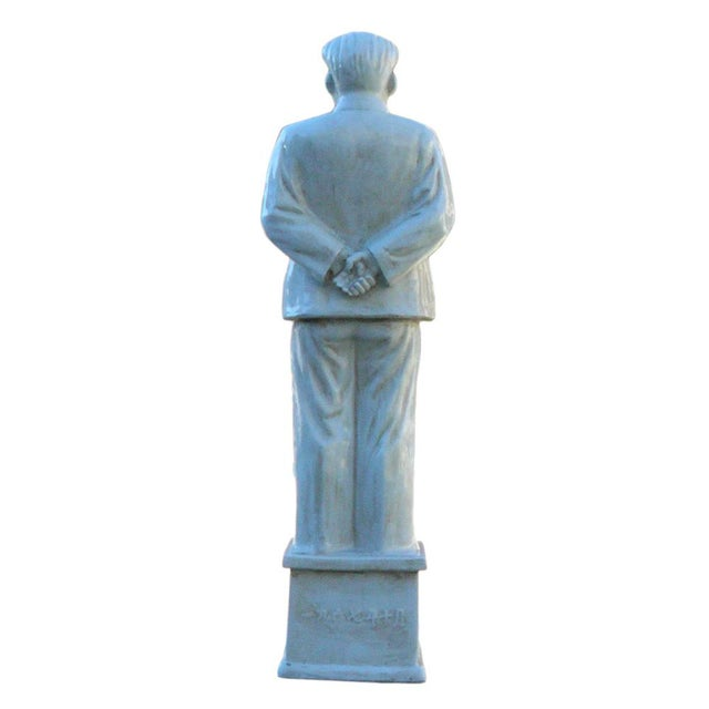 Chinese Large Porcelain White Standing Chairman Mao Figure cs1212 For Sale In San Francisco - Image 6 of 7
