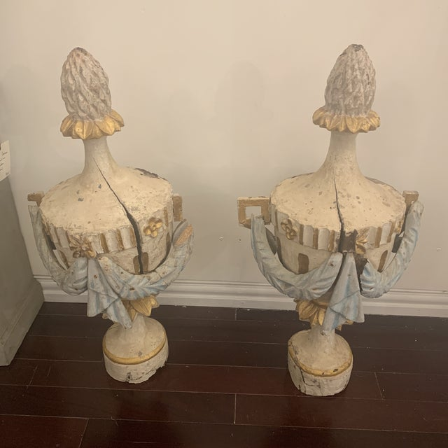 18th Century Antique Portuguese Finials - a Pair For Sale - Image 13 of 13