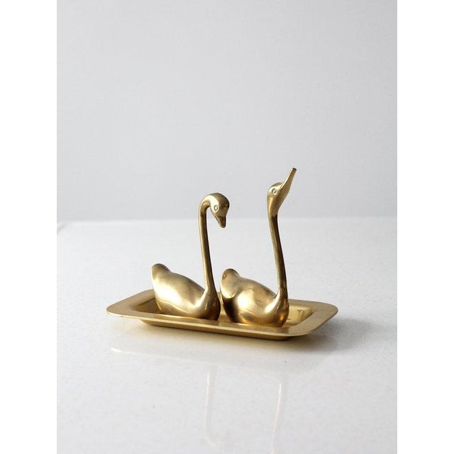 Mid-Century Brass Swans - A Pair - Image 3 of 6