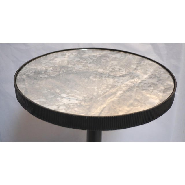 2010s Lumiere Adjustable Black Mirrored Top Accent Table by Bernhardt For Sale - Image 5 of 11