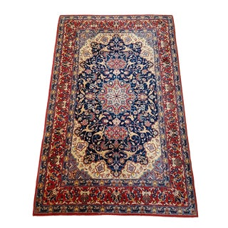 "1920's Isfahan Rug - 3'5"" X 5'8"" For Sale"
