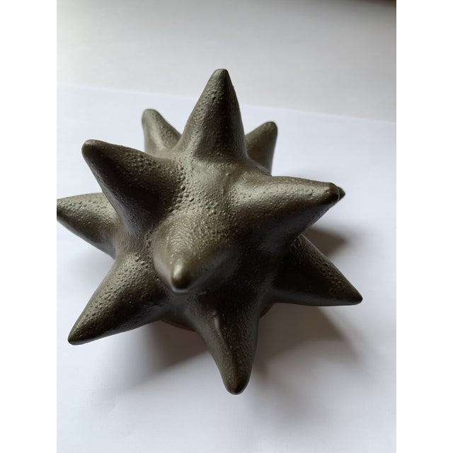 Abstract Vintage Mid-Century Black Ceramic Paperweight / Sculpture For Sale - Image 3 of 5