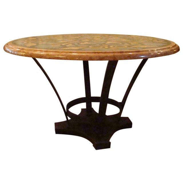 Italian Pietra Dura Marble Table For Sale