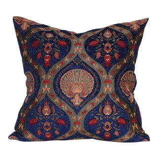 Turkish Chenille Floral Tulip Decorative Throw Pillow For Sale