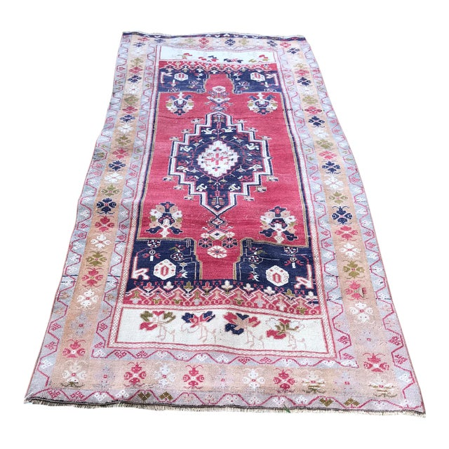 Vintage Anatolian Oushak Rug For Sale