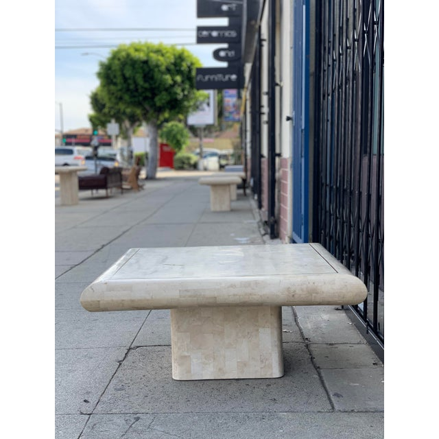 Tessellated Stone Tile Coffee Table For Sale - Image 10 of 12