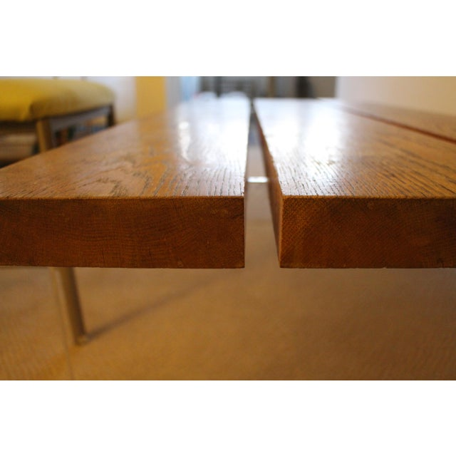 Mid-Century Wood & Acrylic Coffee Table For Sale - Image 5 of 10