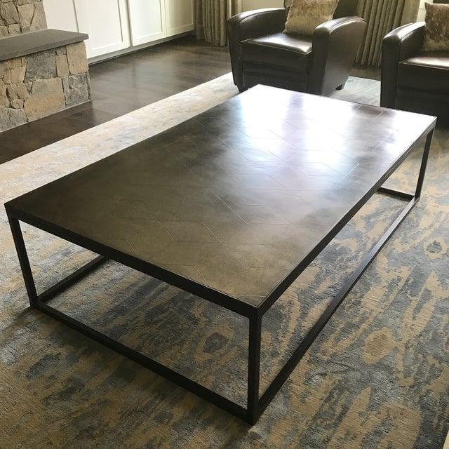 Restoration Hardware Metal Parquet Coffee Table Chairish