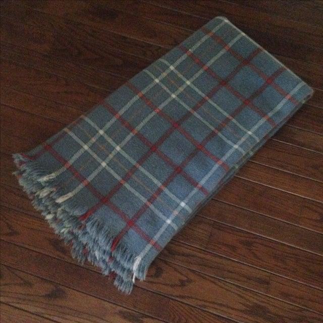 Vintage Plaid Wool Blend Blanket - Image 2 of 11